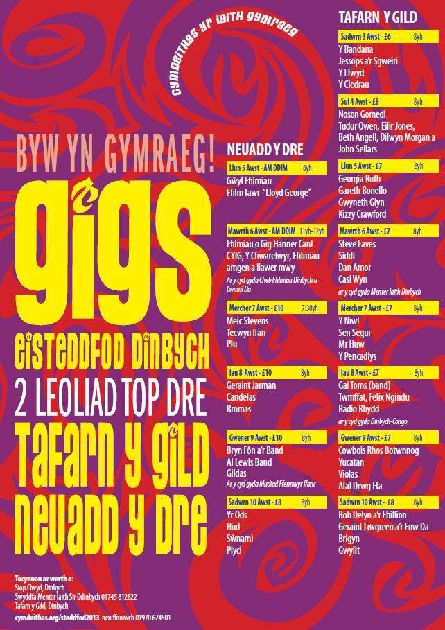 gigs-cymdeithas-steddfod-2013