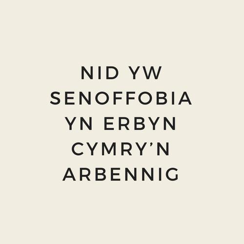 Nid yw senoffobia yn erbyn Cymry'n arbennig